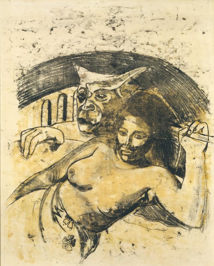 Paul Gauguin, Tahitian Woman with Evil Spirit