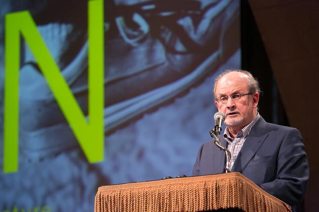 Salman Rushdie (Photograph © Beowulf Sheehan/PEN American Center)