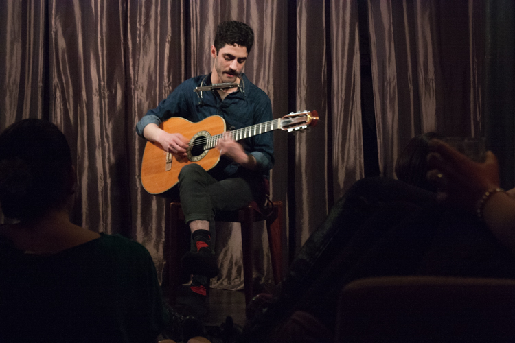 Isaac Gut serenades the audience