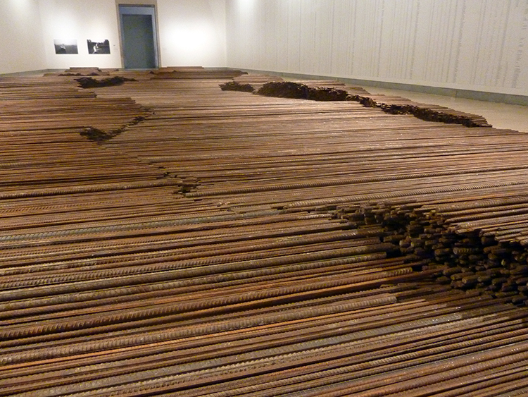 Ai Weiwei, Straight, 2008–12. Steel reinforcing bars, dimensions variable.