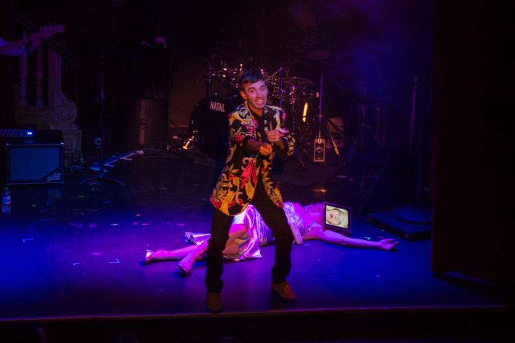 Host Anthony Roth Costanzo and performance artist Clarina Bezzola: Dada Bomb