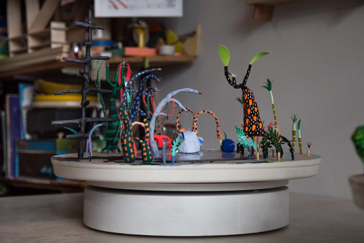 Paper sculptures by Adam Frezza and Terri Chiao